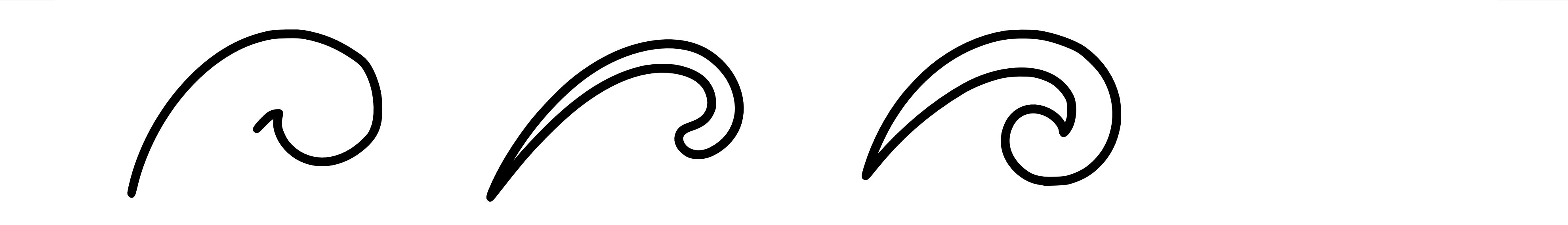 Simple koru patterns